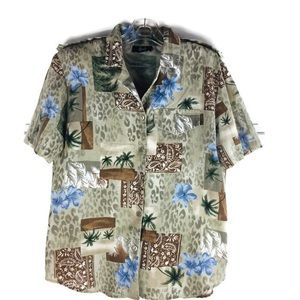 Vintage tapestry Hawaiian Patch Button Down Shirt